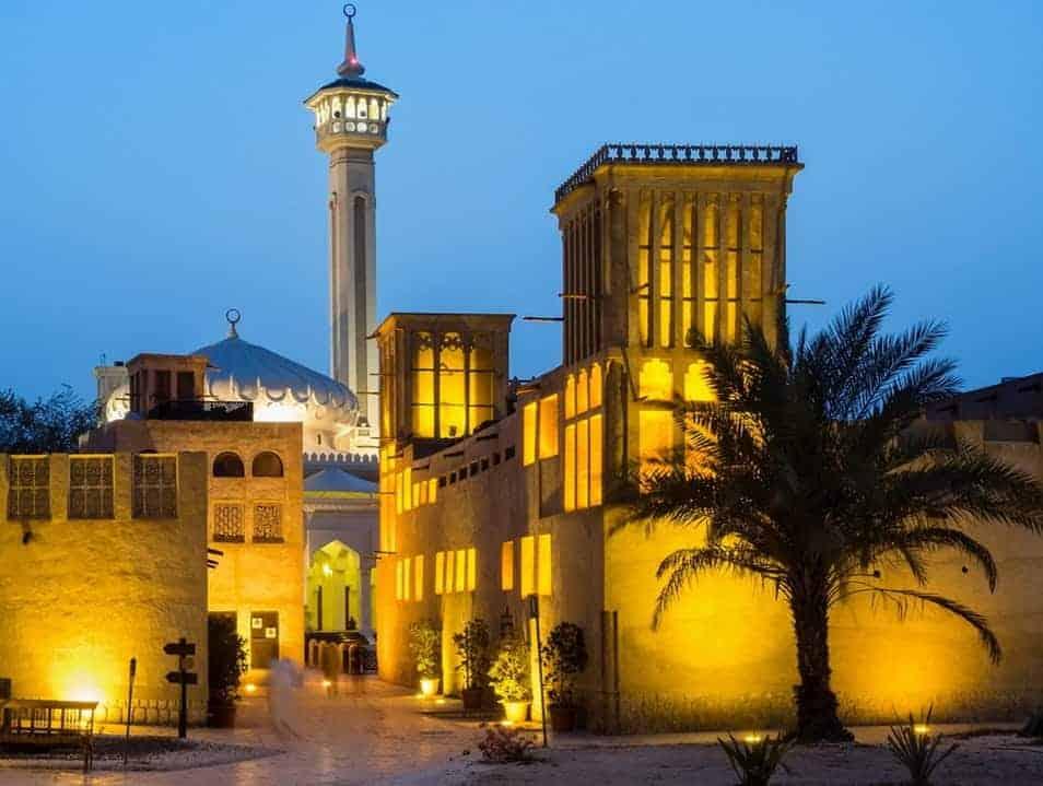 Old Districts of Dubai Al Fahidi Sunset