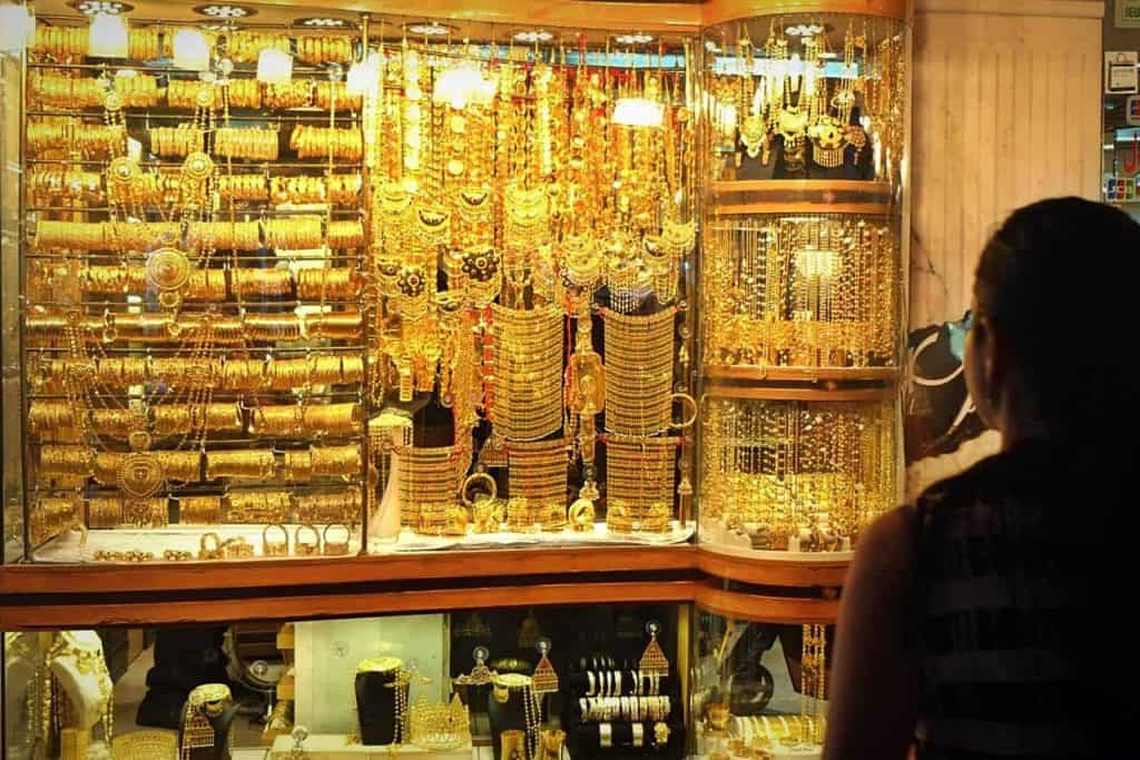 Authentic Gold Jewelries at the Dubai Gold Souk