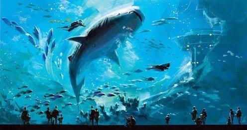 Giant Whale at the Dubai Aquarium