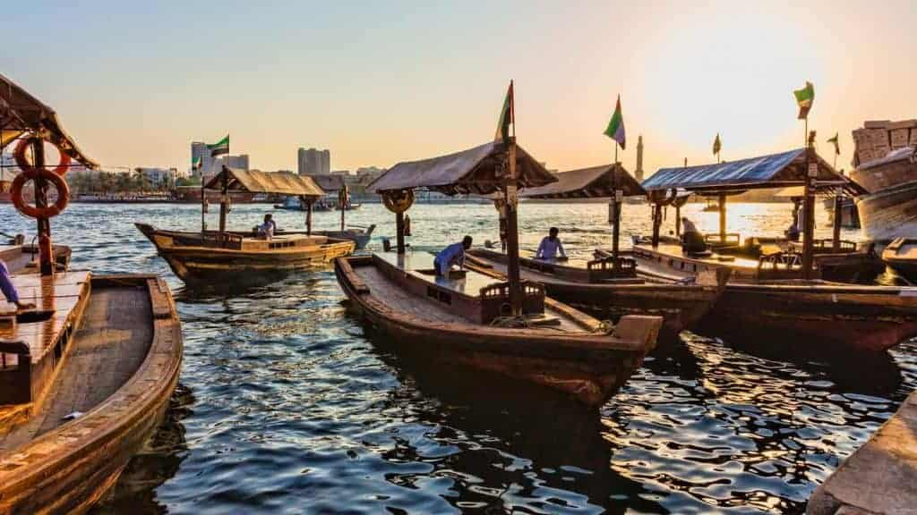Boats in Dubai Creek