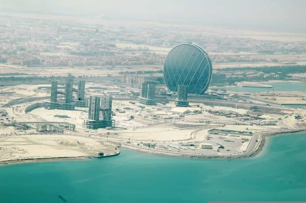 Aldar Headquarters Seaplane View