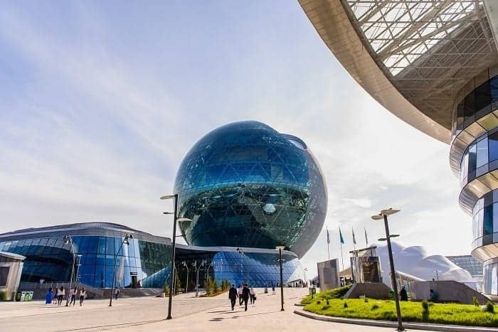 Astana Pavilion Globe Morning View