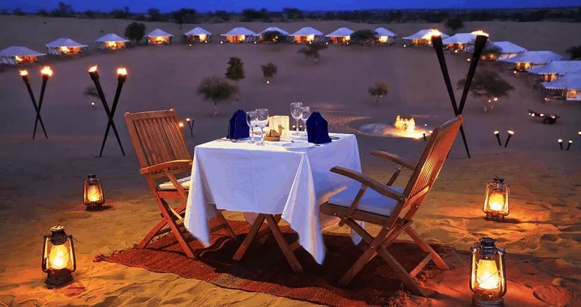 Night stay in the desert