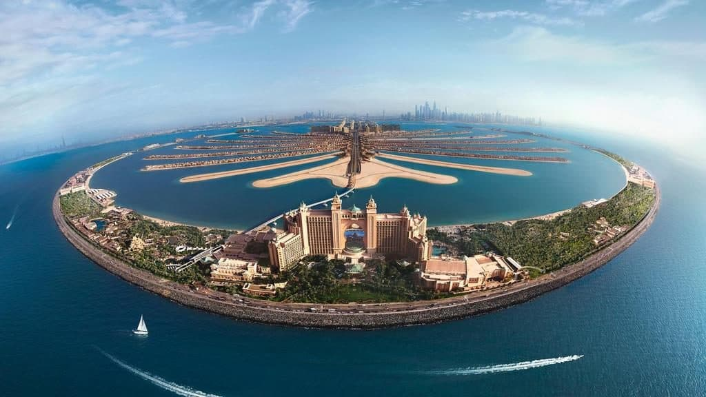 Seaplane View of the Palm Jumeirah