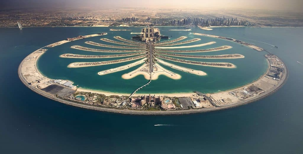 Sky-View of The Grand Palm Jumeirah