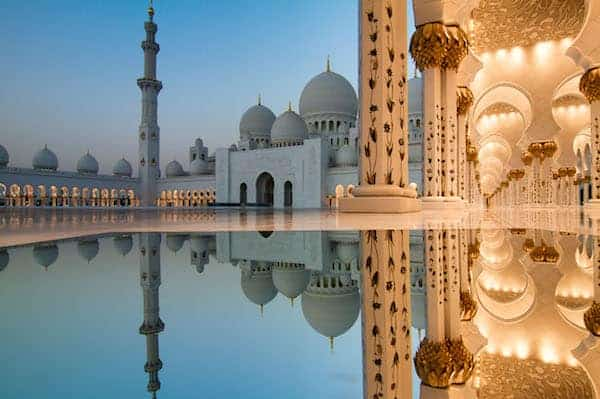 Sheikh Zayed Grand Mosque Sunset