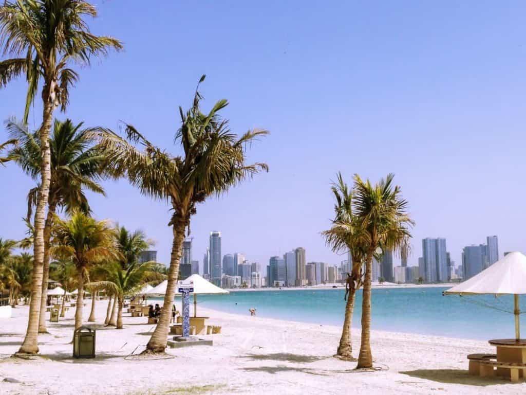 Al Mamzar Park White Sand Beach