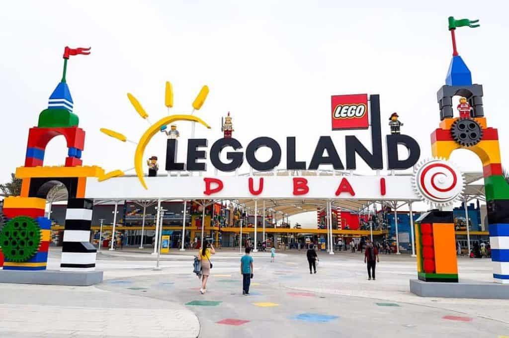 The Grand entrance of Legoland, Dubai