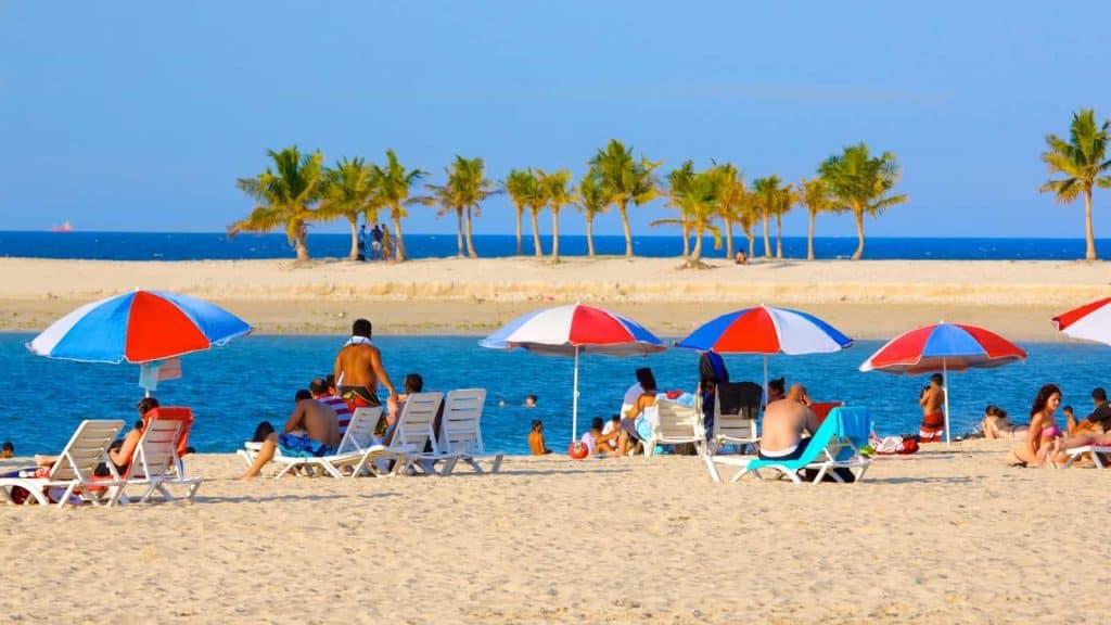 Al Mamzar Park Beach Relaxation